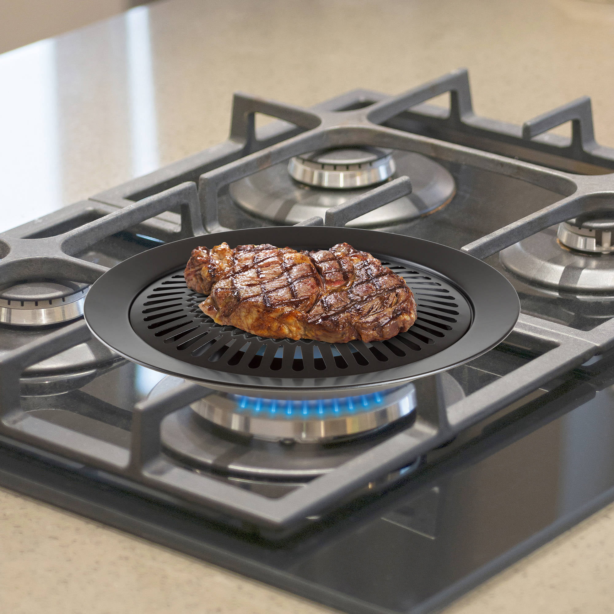 Chef Buddy Smokeless Indoor Stove Top Grill by Trademark Global LLC