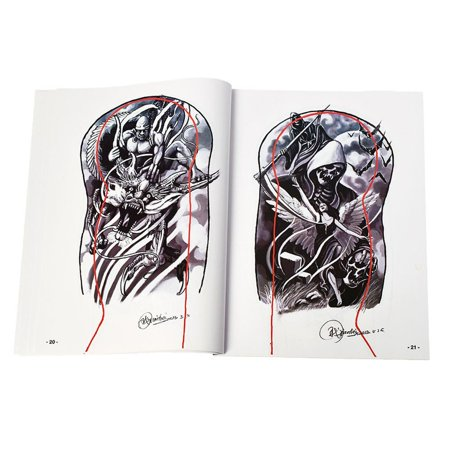Tattoo Supplies References Book Manuscript Sketchbooks Body Art Cool - image 5 of 6