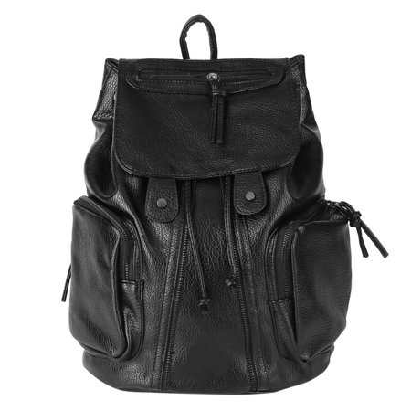 28529db059 OUTAD - Women casual Backpack Pu Leather Shoulder Bags ladies Backpack  Travelling Rucksack School Bags (Black) - Walmart.com