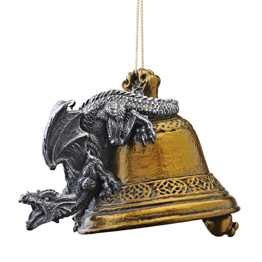 Humdinger the Bell Ringer Gothic Dragon Holiday Ornament: Set of Three