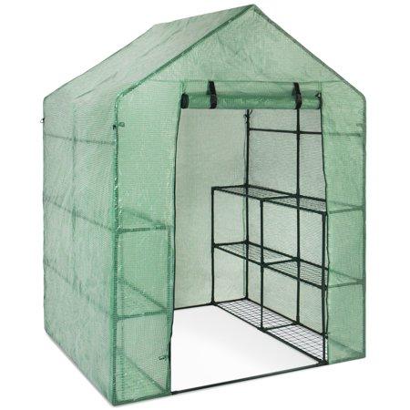 Lettuce Greenhouse - Best Choice Products 3-Tier 8-Shelf Walk-In Greenhouse