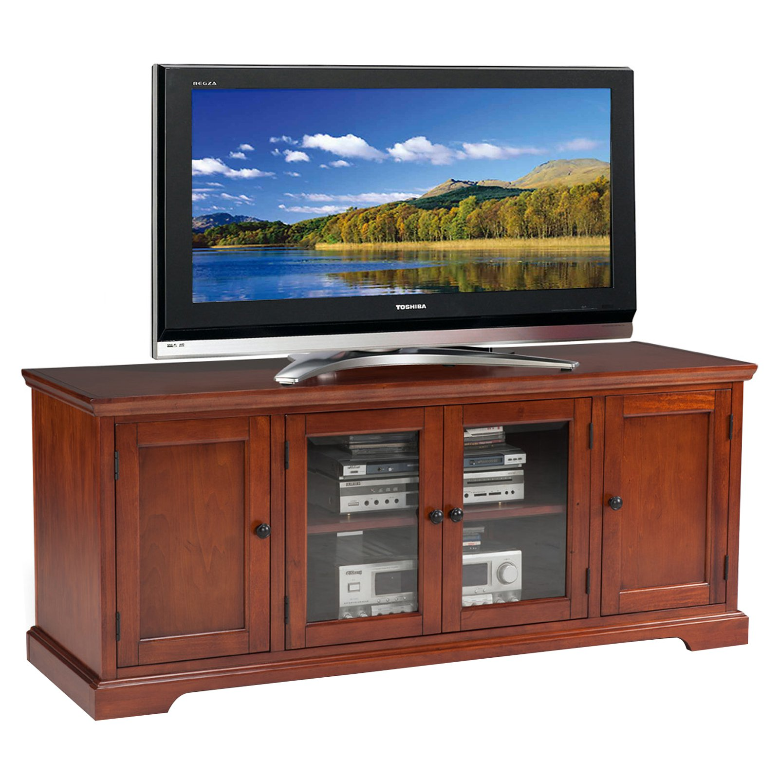"Leick Home Westwood 60"" TV Stand for TV's up to 60"", Brown Cherry"