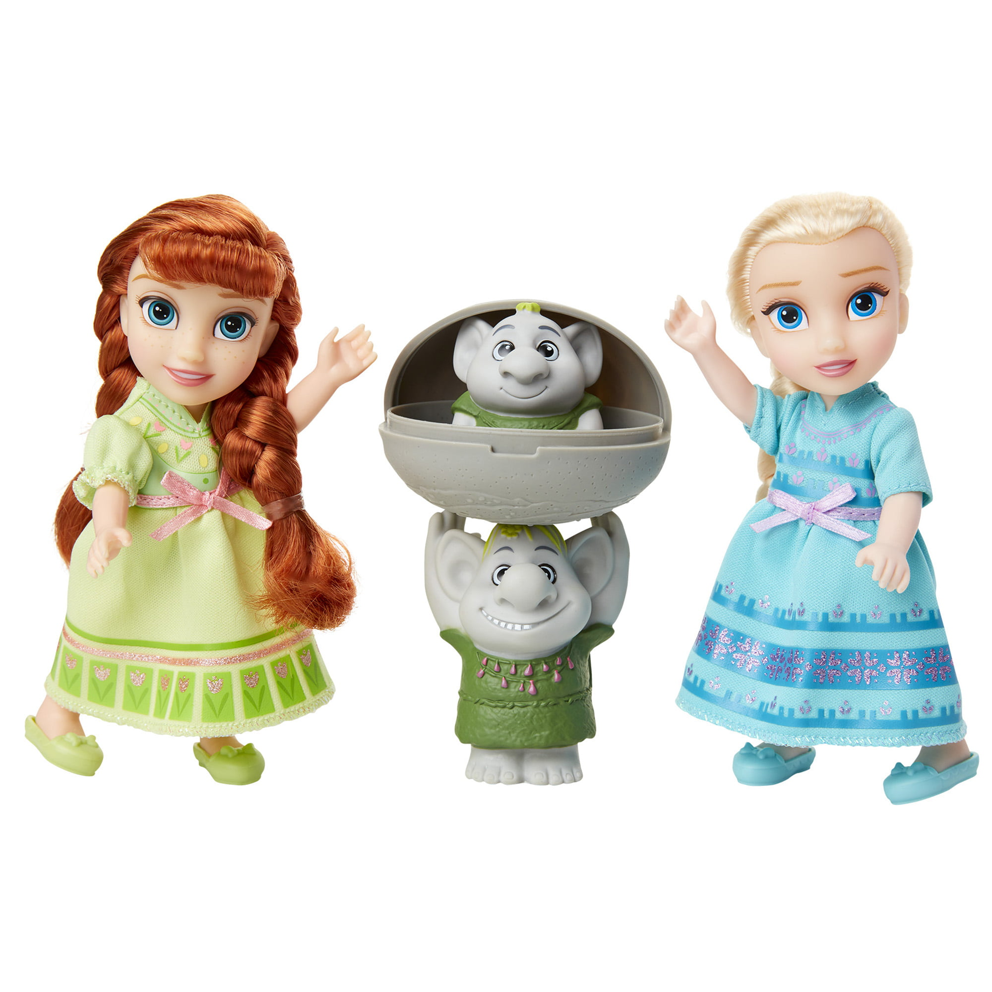 Disney Frozen Petite Princess Anna and Elsa includes Surprise Trolls