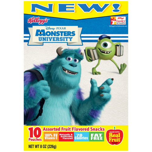 Kellogg's Disney/Pixar Monsters University Fruit Flavored Snack 10 ct