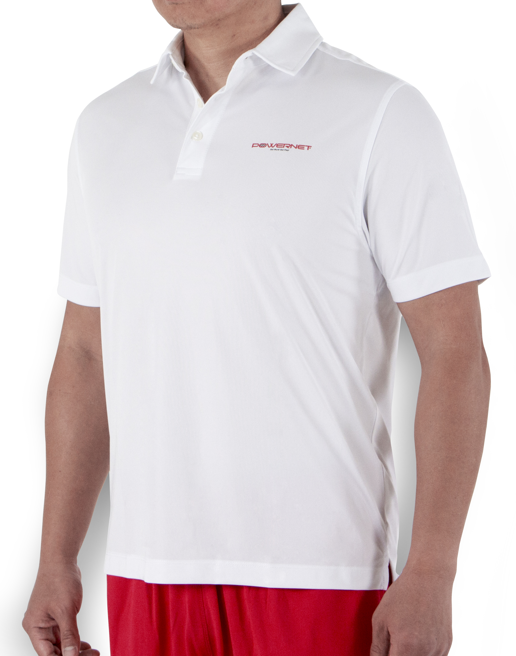 Powernet Mens Performance Golf Polo Shirt Short Sleeve Loose Fit