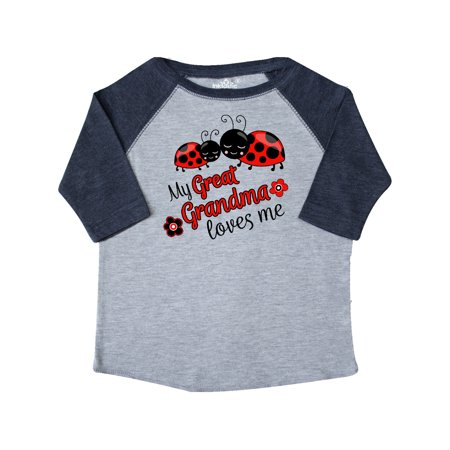 My Great Grandma Loves Me with Cute Ladybugs Toddler T-Shirt