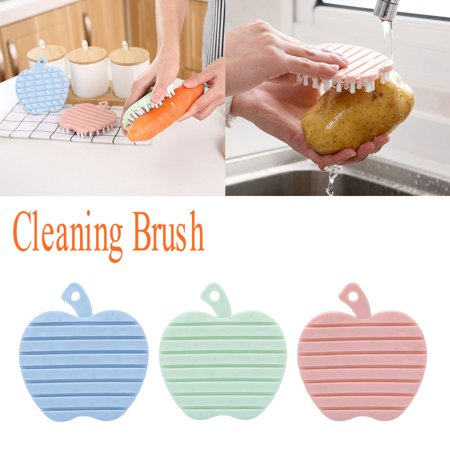 Potato Brush - Fruit and Vegetable Cleaning Brush Hand-protective Fruit Potato Radish Cleaning Brush Fruit and Vegetable Brush Bathroom Kitchen Cleaning Brush