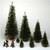24 in. Mini Pine Tree 282 Tips Wood Base