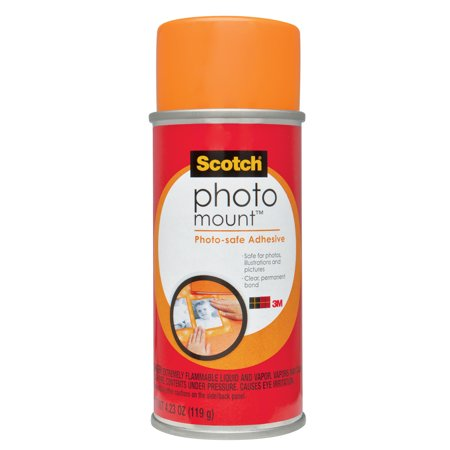 3M Scotch Photo Mount Can with Hangtag, 1 Each 3m Hi Strength 90 Spray
