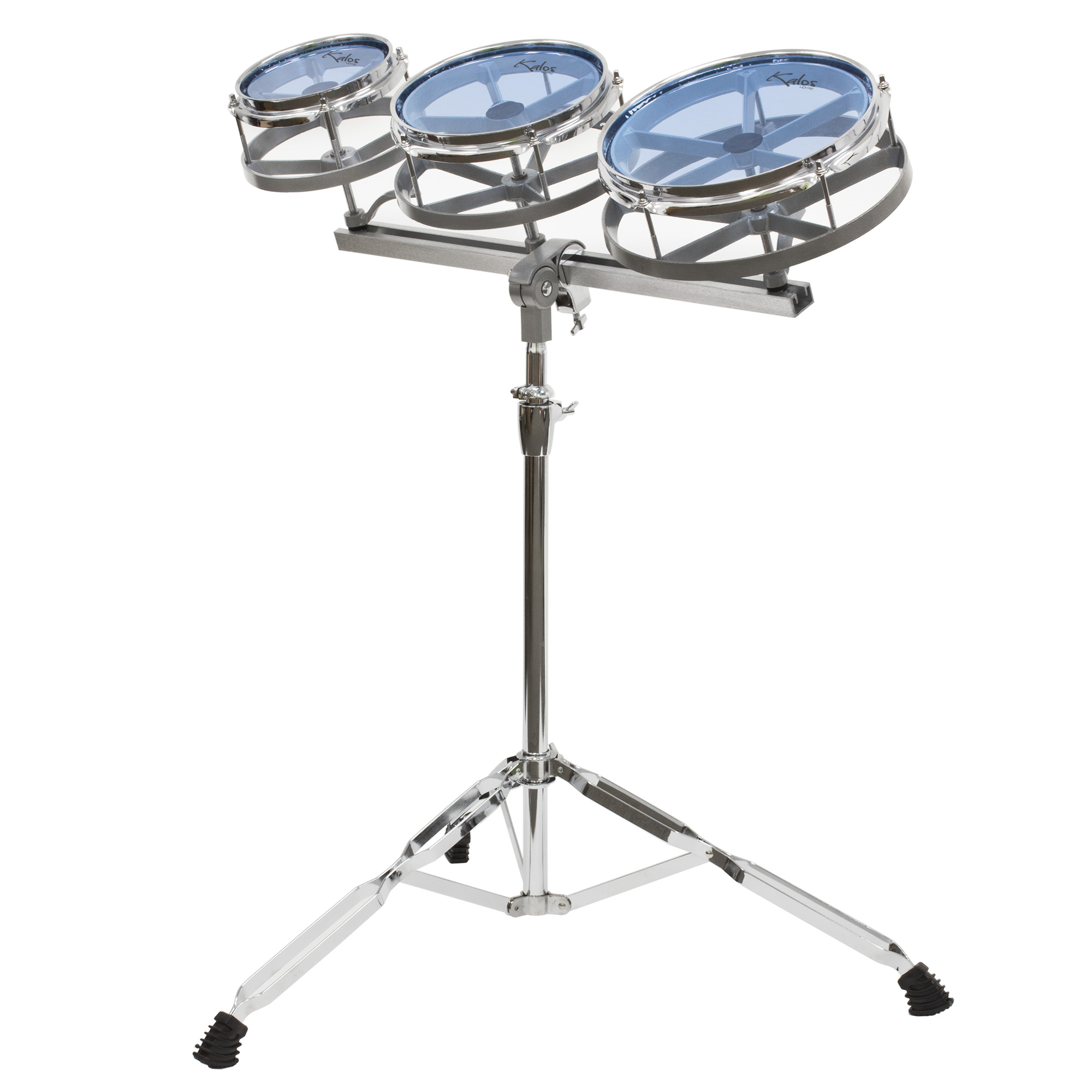 "Kalos by Cecilio Roto Tom Set ~ 6"", 8"" and 10"" with Height Adjustable Double Braced Stand"