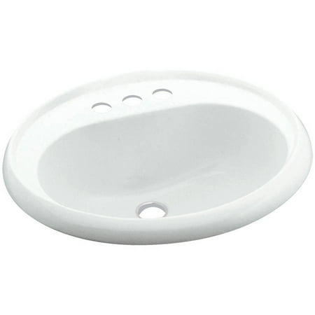 Astounding Sterling 20 X 17 X 7 Vikrell Drop In Oval Bathroom Sink With 4 Centers And Overflow Available In Various Colors Home Interior And Landscaping Palasignezvosmurscom