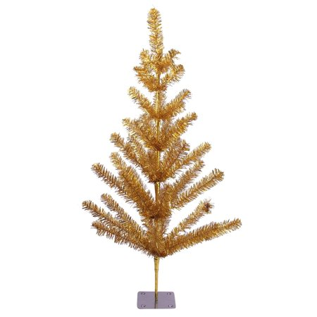3' Gold Tinsel Pine Artificial Christmas Twig Tree - Unlit (Gold Twig Tree)