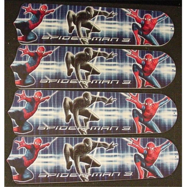 Ceiling Fan Designers 42SET-KIDS-AS3SM Amazing Spiderman 3 42 inch Ceiling Fan Blades Only