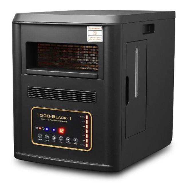 STARK XPD-1500BLK 1500 Watt Quartz Infrared Heater Humidi...