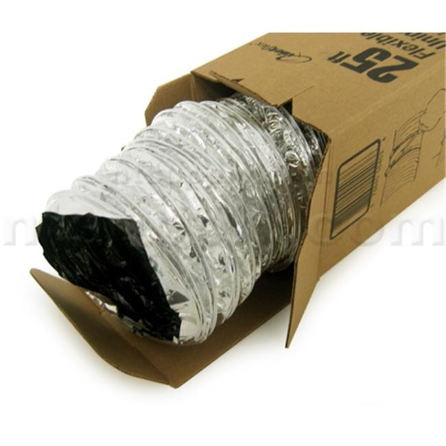 Hardware Express 406 Uninsulated Flex Duct 4 inch Diameter - 25 ft.  L