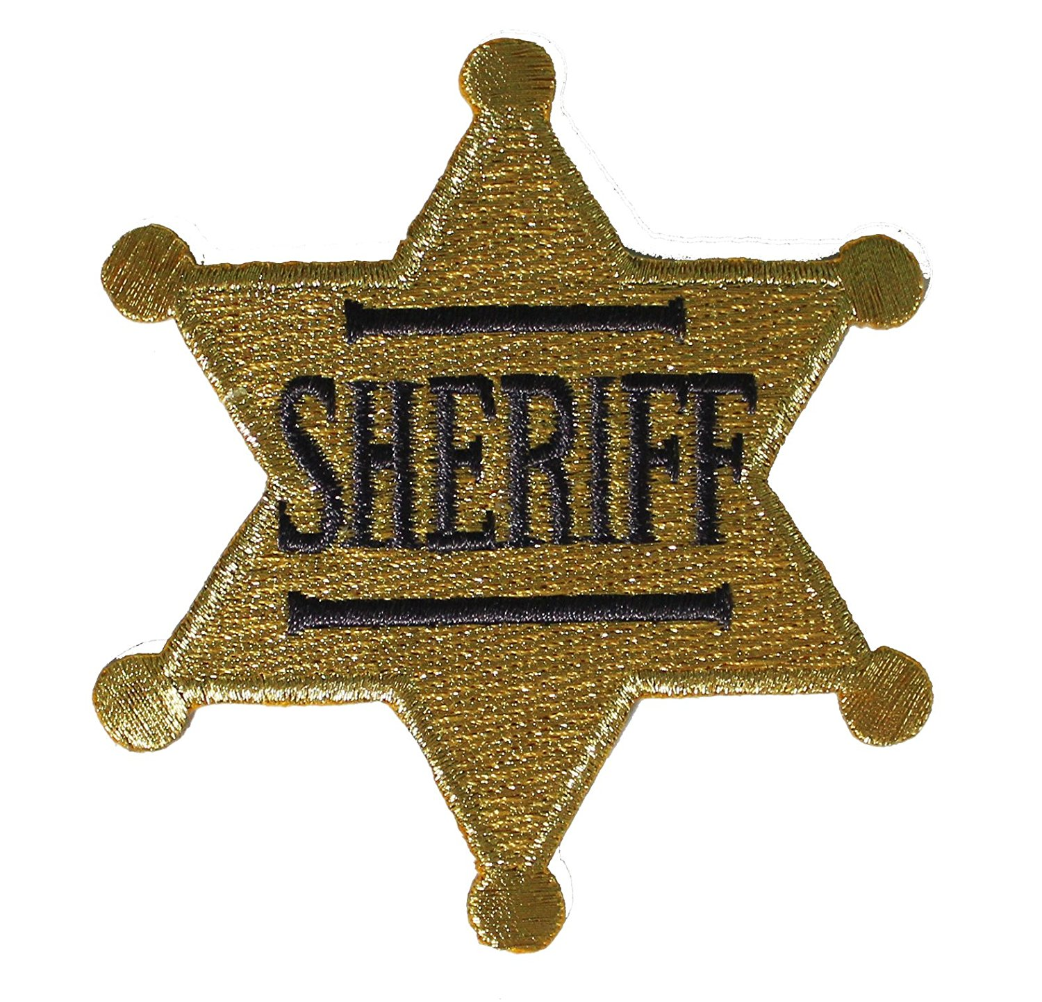 Western & Country Themed CDX Sheriff Badge PATCH - Officially Licensed Original Artwork, 2.75' x 3', Iron-On / Sew-On Embroidered Patch