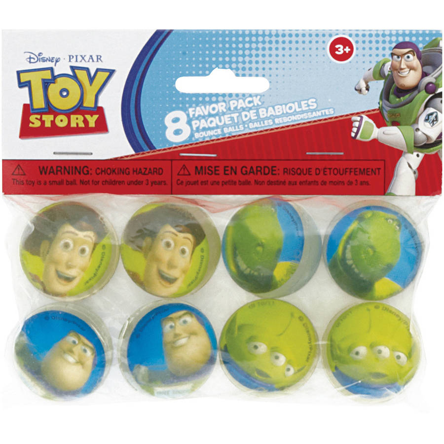 Toy Story Bouncy Ball Party Favors, 8-Count