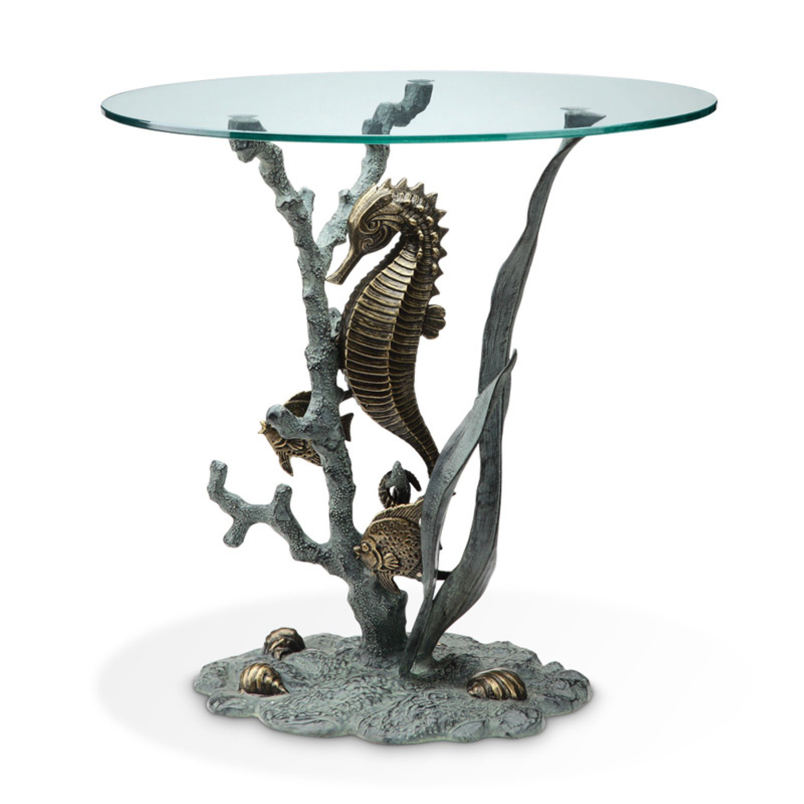 San Pacific International Seahorse End Table