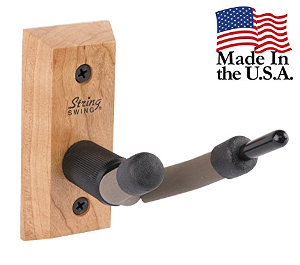 String Swing CC01V-C Hardwood DS 1888 Home & Studio Wall Mount Violin Hanger Cherry by