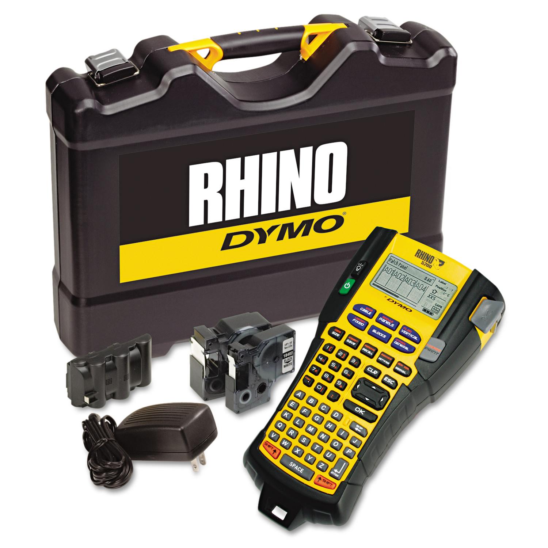 DYMO Rhino 5200 Industrial Label Maker Kit, 5 Lines, 4 9/10w x 9 1/5d x 2 1/2h