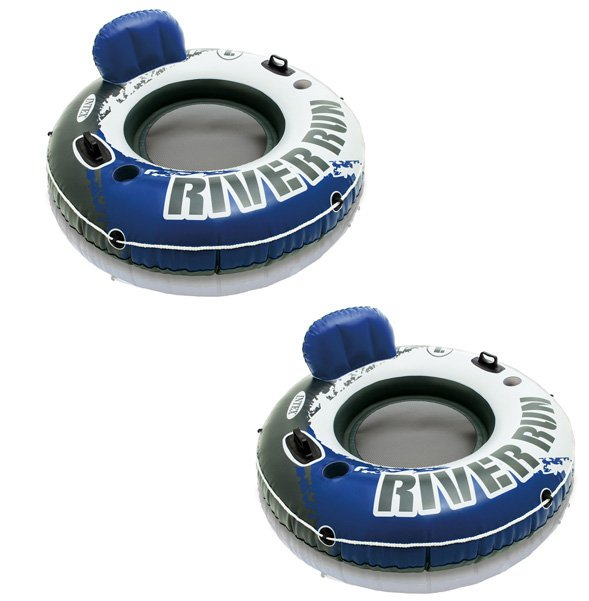 "6 Pack Intex River Run I Tube Inflatable Float Raft 53/"" Diameter"
