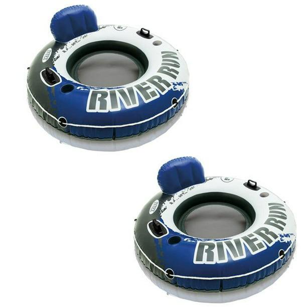 """6 Pack Intex River Run I Tube Inflatable Float Raft 53/"""" Diameter"""