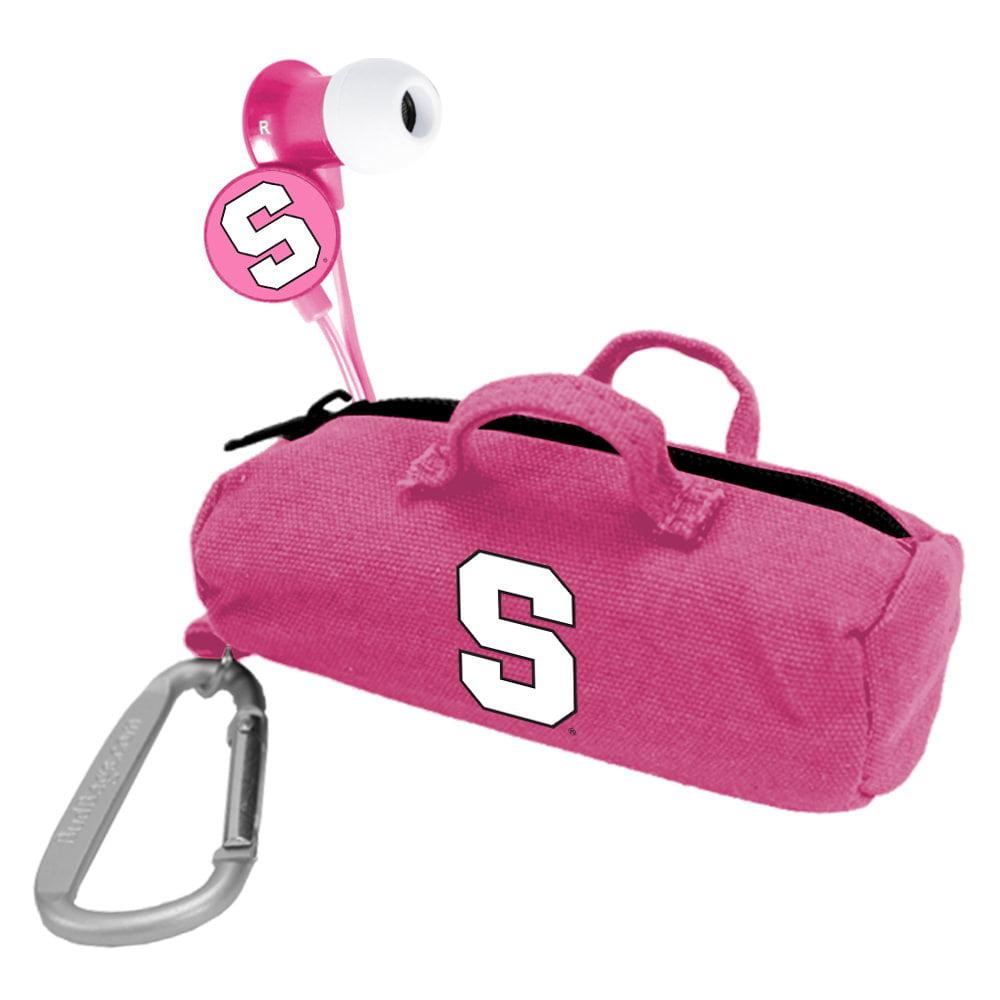 Syracuse Orange Pink Scorch Earbuds with BudBag