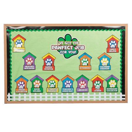 Paw Print Classroom Job Chart By Fun Express