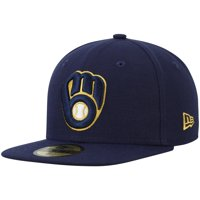 Milwaukee Brewers New Era Youth Authentic Collection On Field 59FIFTY Fitted Hat - Navy