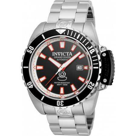 21785 Men's Pro Diver Grand Diver Auto Stainless Steel Black Dial & Bezel Ss - Auto Black Dial