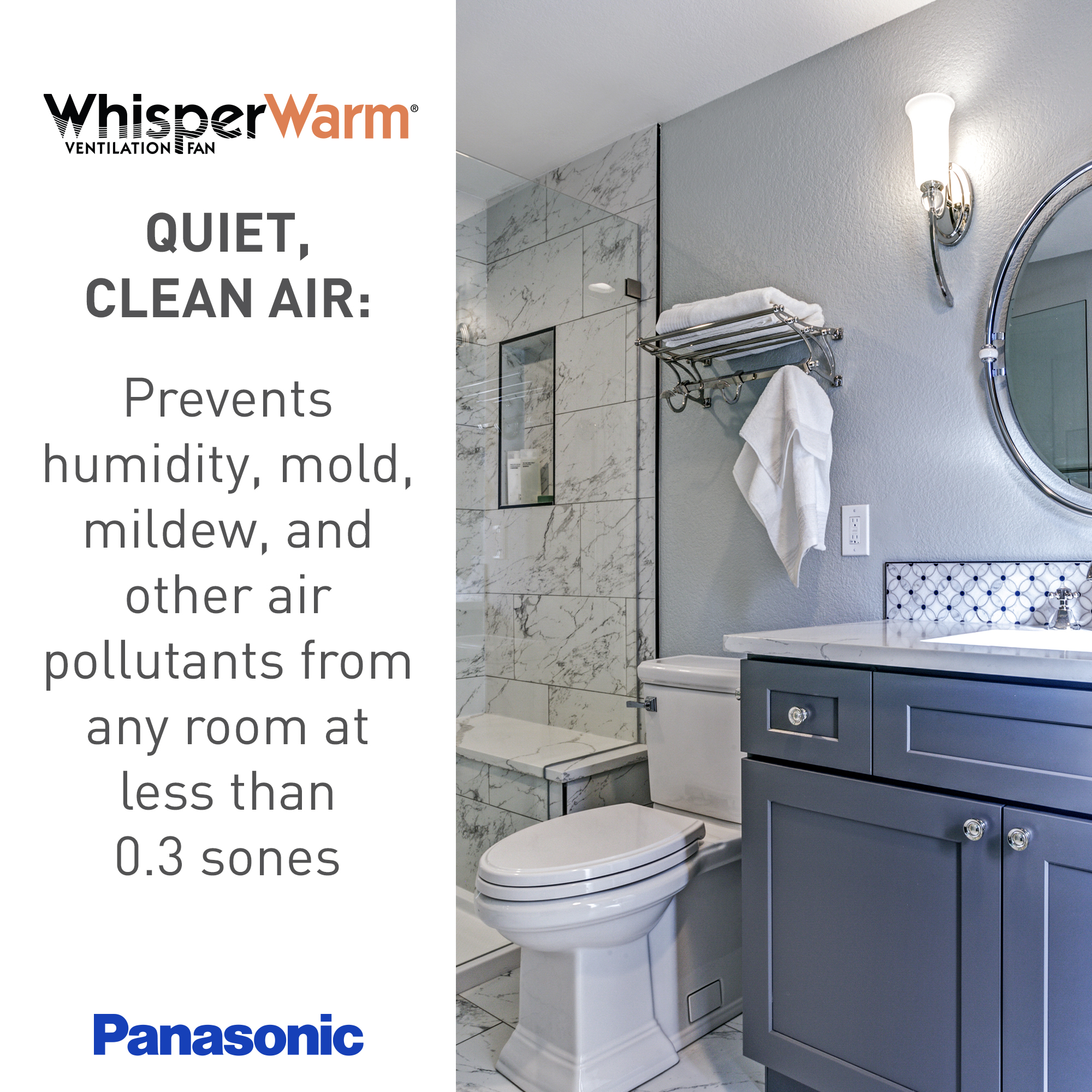Indoor Air Quality Fans Panasonic, Panasonic Bathroom Exhaust Fan With Light And Heater