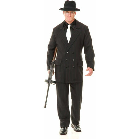 Gangster Double Breasted Suit Black/Red Men's Adult Halloween Costume