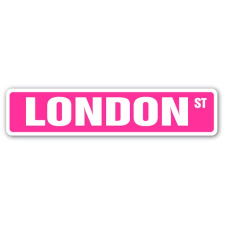 LONDON Street Sign Childrens Name Room Sign | Indoor/Outdoor |  24