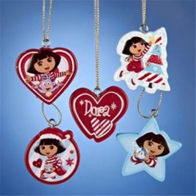 Kurtadler 1912409 Dora The Explorer Mini Ornament Set - C...