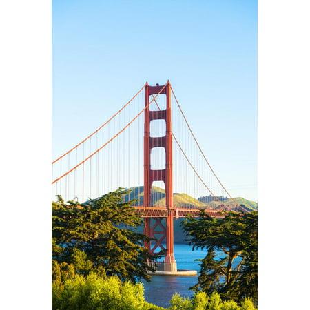 North America, USA, America, California, San Francisco, Golden Gate bridge from the welcome centre Print Wall Art By Jordan (San Francisco Centre Mall)