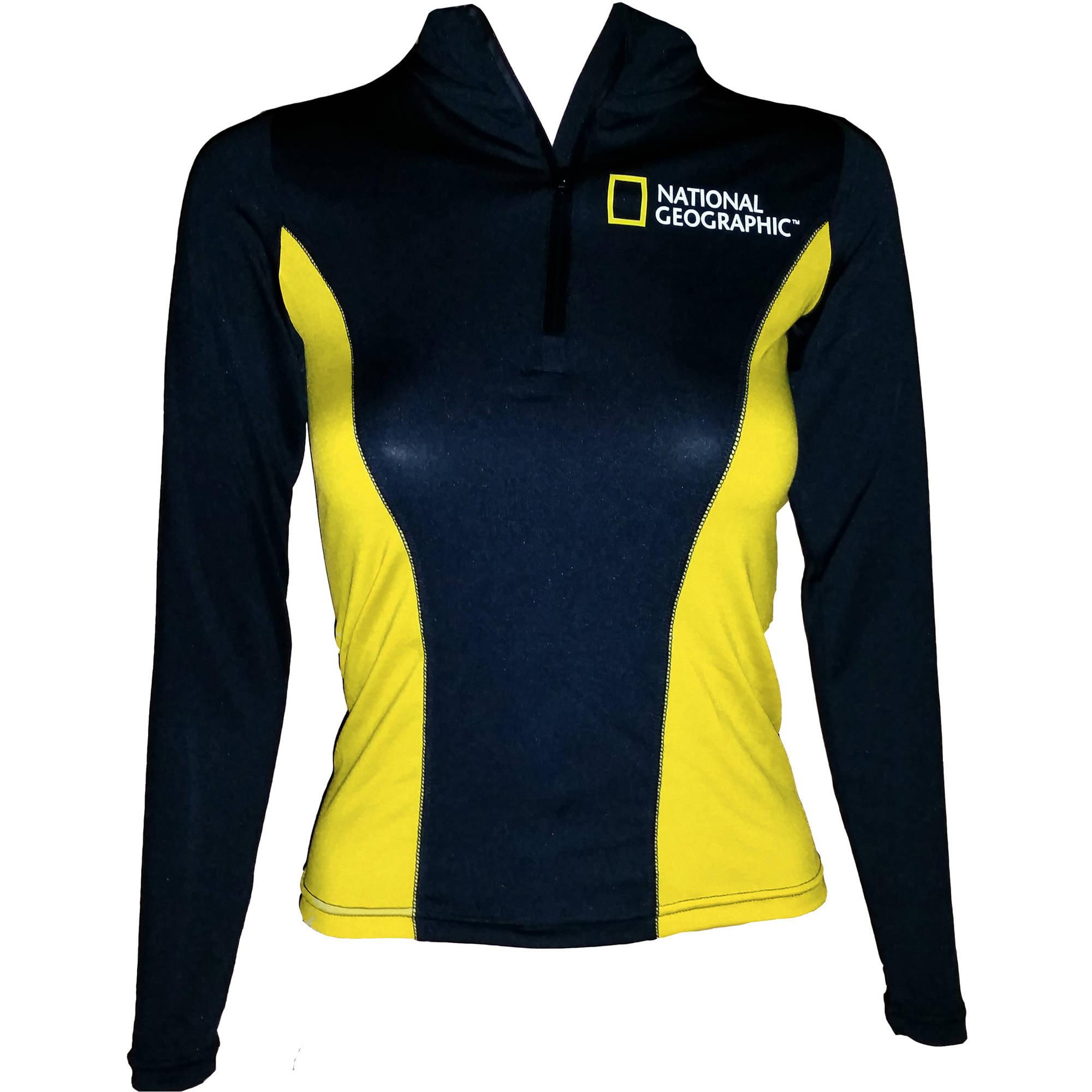 National Geographic Snorkeler Women's Long Sleeve Rash, Classic BK/YL, LG
