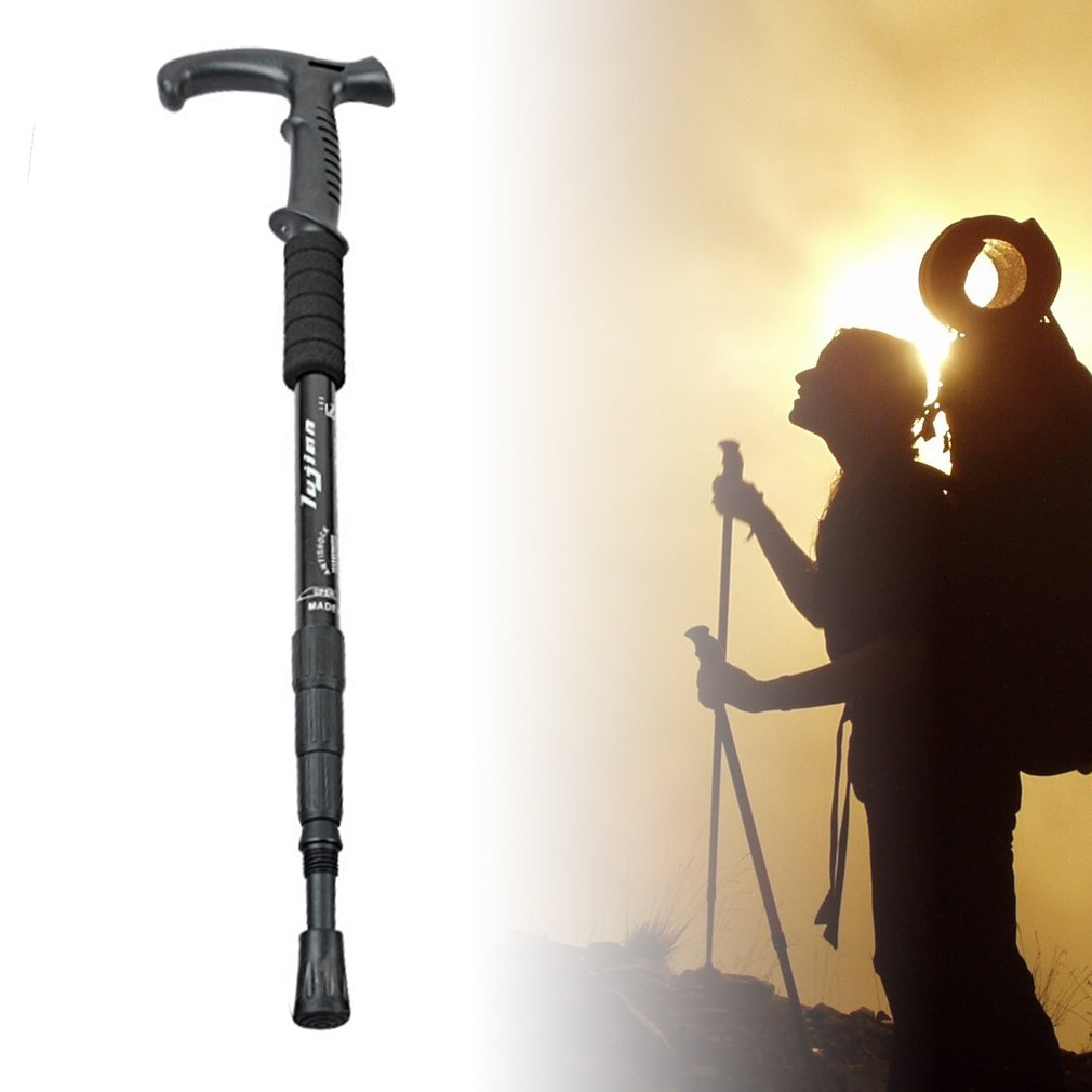 Retractable Anti Shock Walking Sticks Telescopic Trekking Hiking Poles Canes by