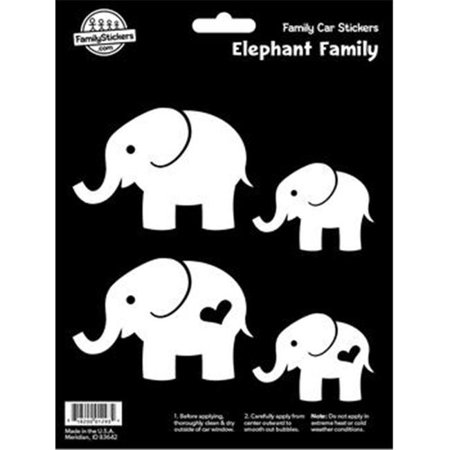 Decalcomania 10051 elephant family decal stickers