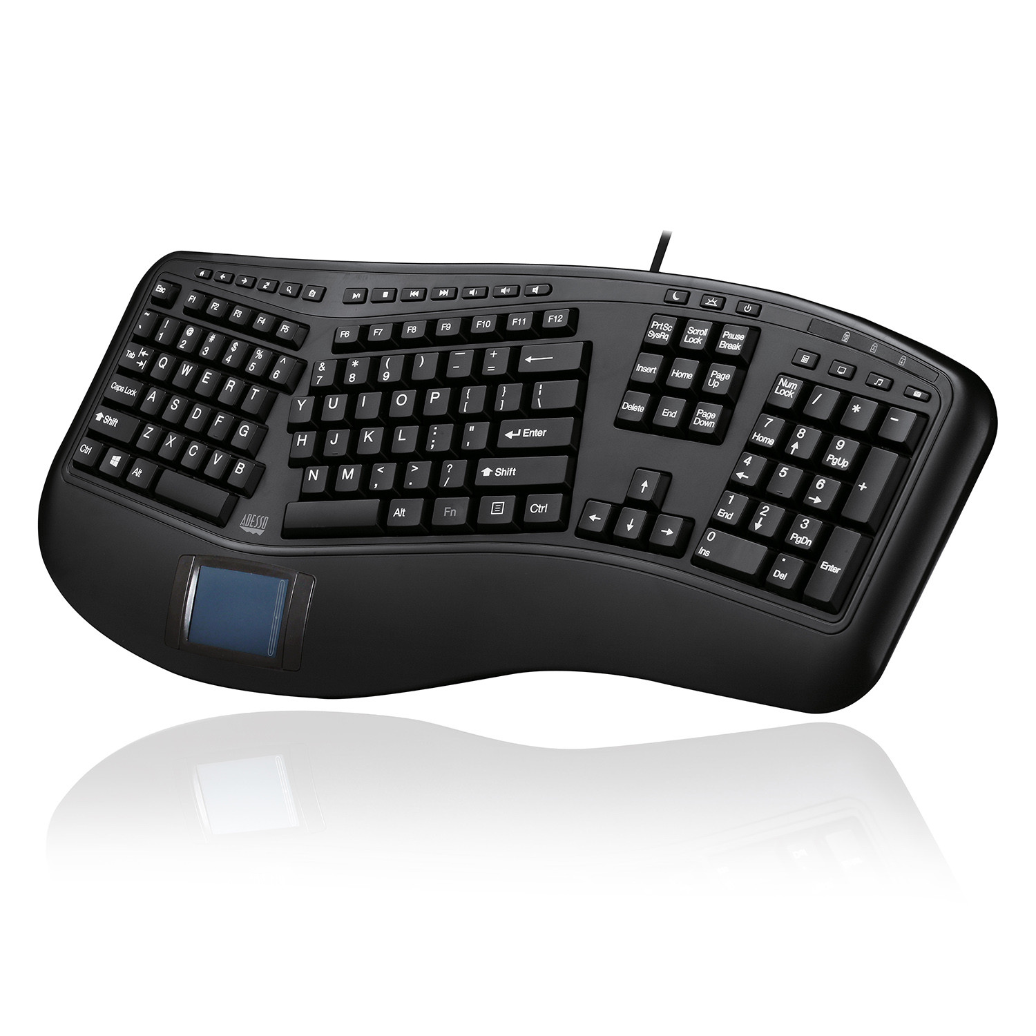 Adesso Tru-Form 450 - Ergonomic Touchpad Keyboard
