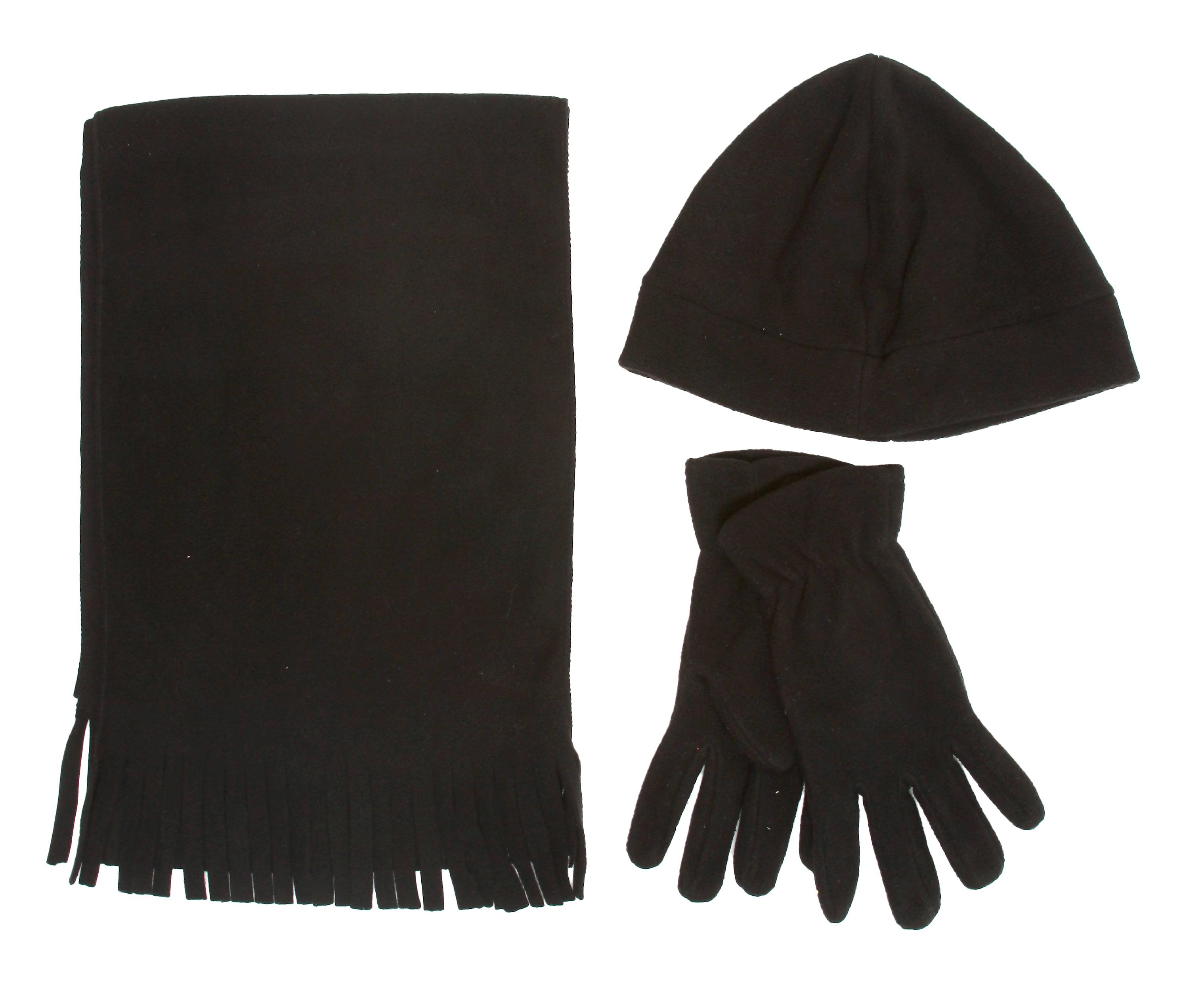 Ladies Fleece Scarf, Glove and Hat Set