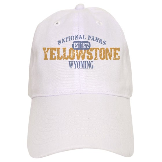 7567fc4bd CafePress - Yellowstone National Park WY - Printed Adjustable Baseball Cap