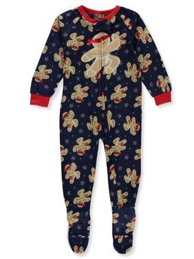 PJ's & Presents Boys' Gingerbread Ninja Footed 1-Piece Pajamas