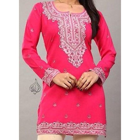 Beautiful Women Tops, Indian Kurti Tunic, Kurta Sale :  RANA | Fuschia | Garment Bust Size 36