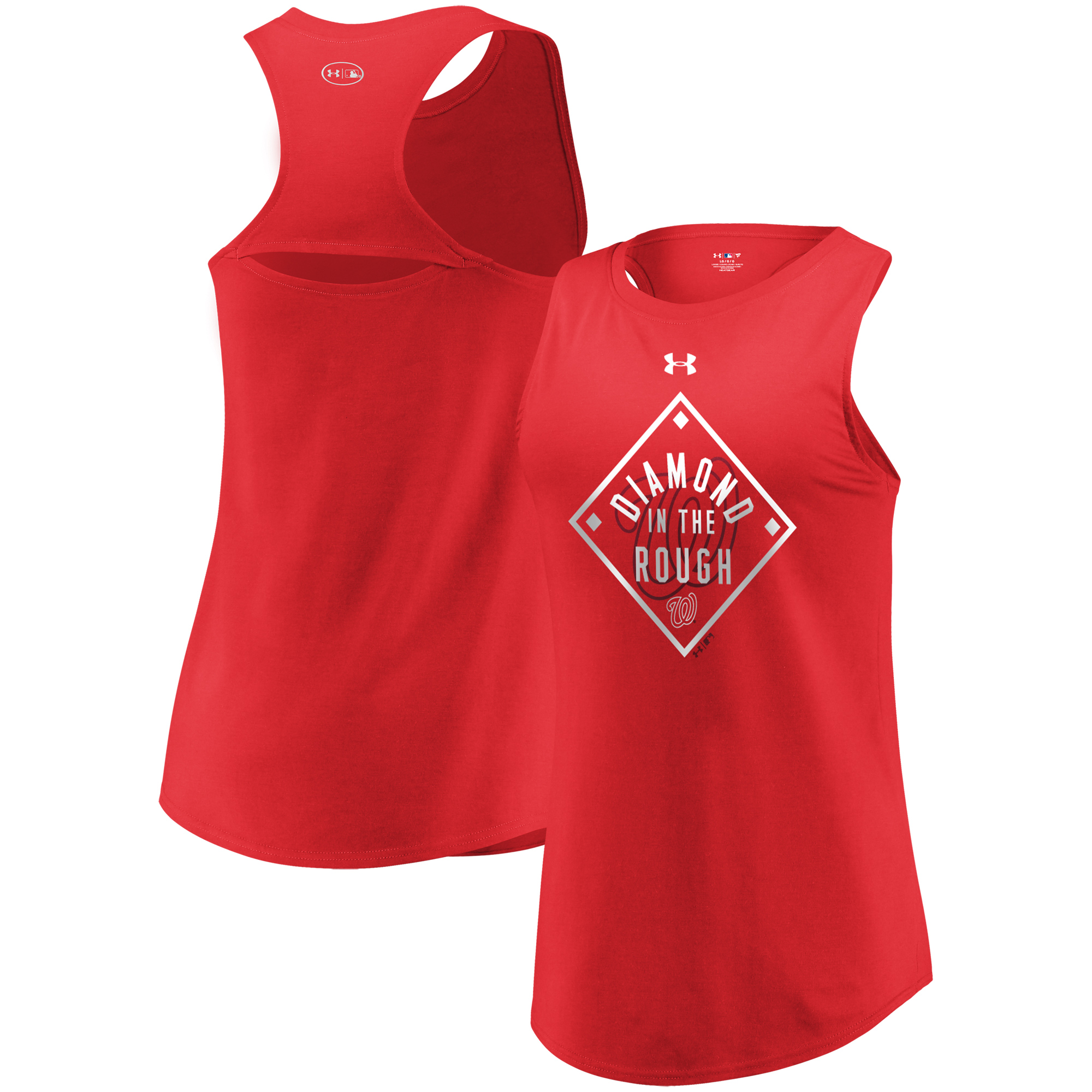 Washington Nationals Under Armour Women's Passion Diamond Tri-Blend Performance Tank Top - Red