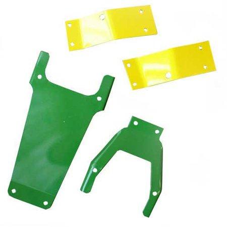 Seat Brackets, 4 Piece Set, Yellow/Green, New, John Deere, R27784, R27964, R30443, R30444, R31512