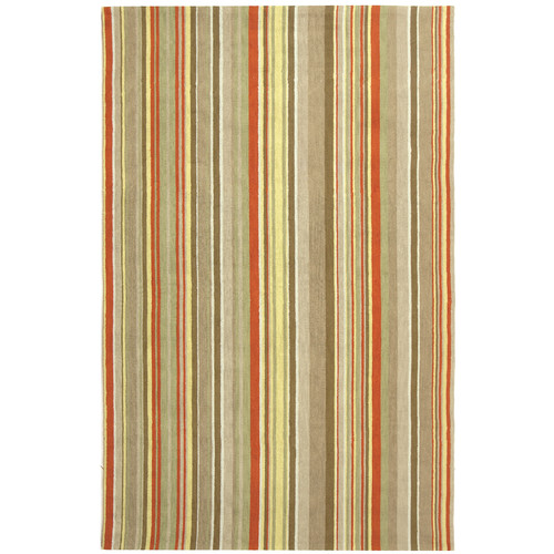 Safavieh Newport Red Striped Area Rug