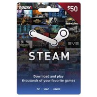 Steam $50 Giftcard, Valve [Physically Shipped Card]