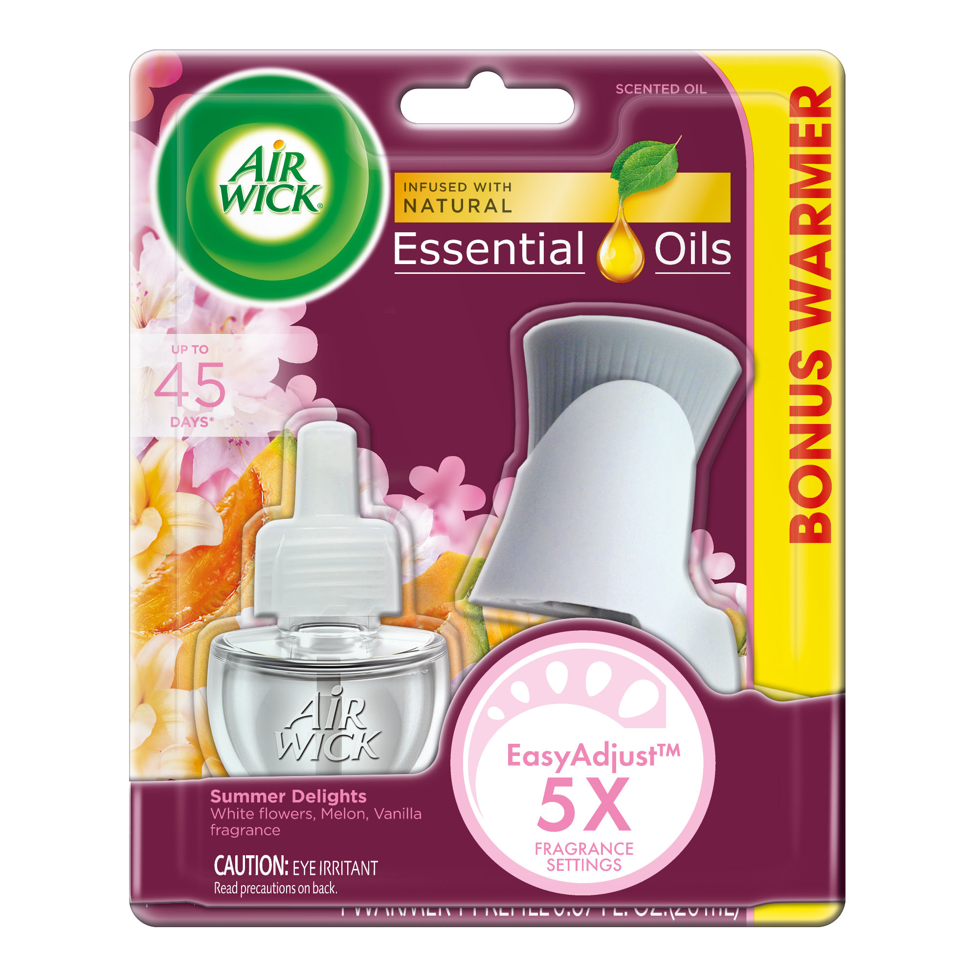 Air Wick Scented Oil Kit (Warmer + 1 Refill), Summer Delights