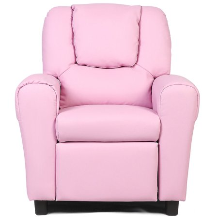 Costway Kids Sofa Chair Recliner Armchair Couch Seat W Cup Holder Pink Walmart Canada