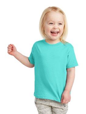 Toddler Fine Jersey Ribbed Collar T-Shirt